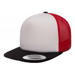 Кепка FlexFit 6005FW NO FOAM Trucker Black/White/Red