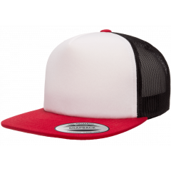 Кепка FlexFit 6005FW NO FOAM Trucker Red/White/Black
