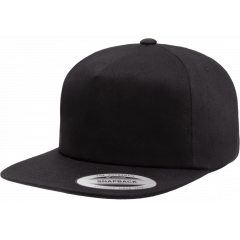 Кепка FlexFit 6502 - Unstructured 5-Panel Snapback Black