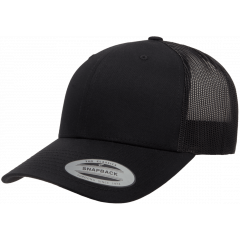 Кепка FlexFit 6606 Retro Trucker - Black